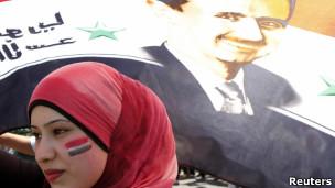 در گیری میان مخالفان و موافقان بشار اسد
