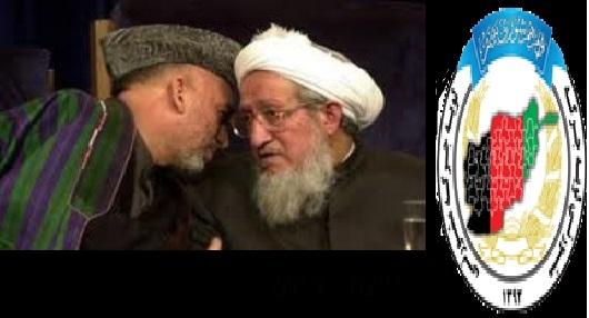 حضرت صبغت الله مجددى که وی را ستون اصلی استخاره برای مافیای حاکم نیز میخوانند بحیث رییس لویه جرگۀ مشورتى انتخاب شد