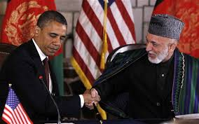 Karzai and Obama Securety Agriment19