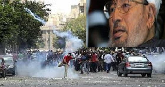قرضاوی:ارتش مصر باپولهای عربستان مردم رامیکشند!