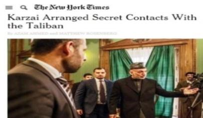 نیویارک تایمز: حامد کرزی با گروه طالبان روابط پنهانی داشته است