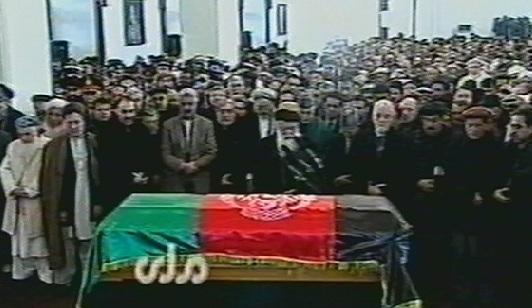 تابوت مارشال محمد قسیم فهیم با مراسم رسمی در ارگ تشییع گردید