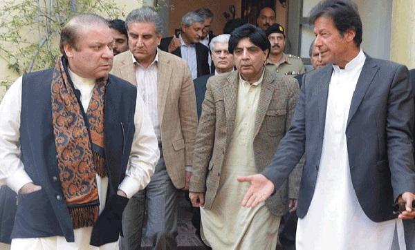 نوازشریف در ملاقات با عمران خان : خان صاحب این چپلی ها از طالبان است ؟ عمران خان :میان صاحب شما چرا من را بجای عمران خان طالبان خان میخوانید !