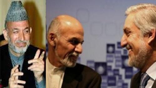 کرزی از  معاهده ء تشکیل حکومت با فورمول «نصف لی ونصف لک »استقبال کرد
