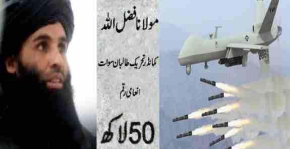 د اکـسپرس تـــربیـــون ورځــــپاڼـــــــــه    :  دپـاکستانی طالبانومشرملافضل الله بچ شو .