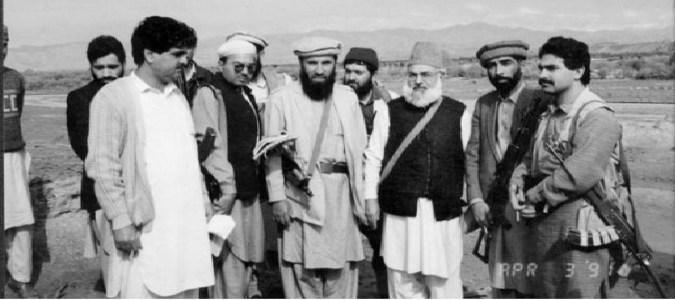 qazi husein ahmad and Gulbudin hekmatyar 26