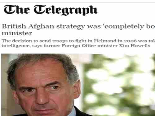 «کیم هووِل» عضو اسبق کابینه انگلیس : مادرجنگ افغانستان اشتباهات جنون آمیزی مرتکب شده ایم