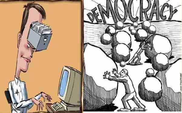 نقـش شخـصیـــت های دمـوکــــرات در تحـــول و دموکراسی درجــوامــع بشـری !
