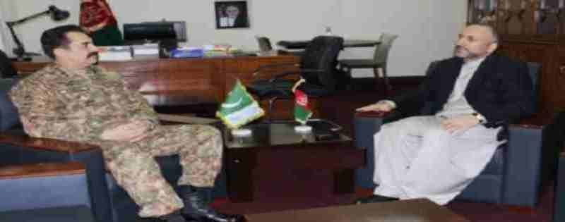 Hanif Atmar with Genral Sharif Pakistan 28