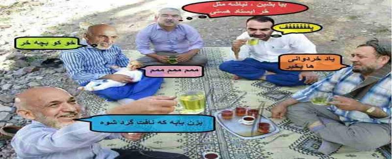Cartoon Karzai , ghani Dustum ersali haji saheb sahar gul khan 07