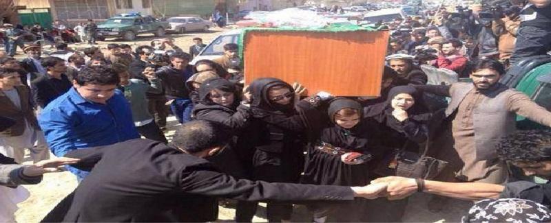 تابوت بر شانه های زنان شجاع کابل