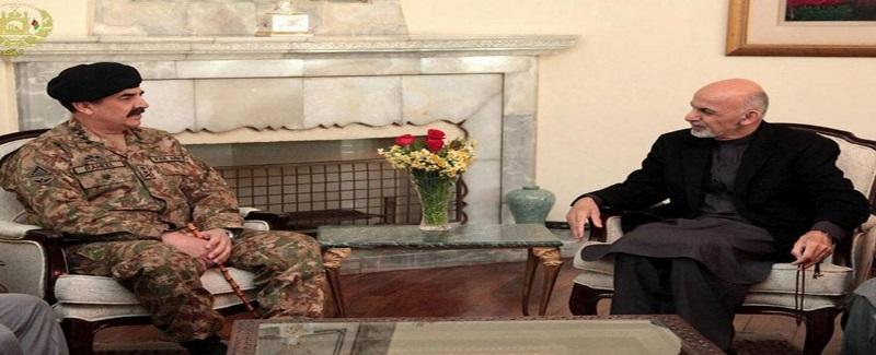Ghani and Rahel sharif in Kabul