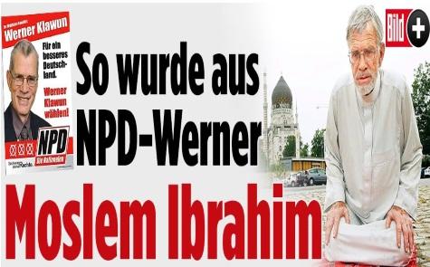 ورنر کلاون نماینده حزب راست افراطی دموکراتیک ملی  آلمان مسلمان شد