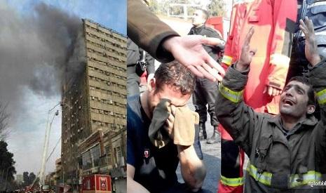 آتش درتعمیرپلاسکوی تهران !