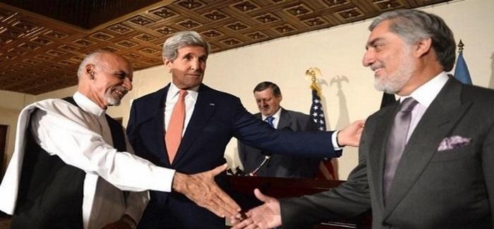 سران حکومت وحدت ملی در نزد بادار جان کری