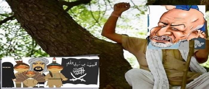 غنی درخت را از بیخ کند