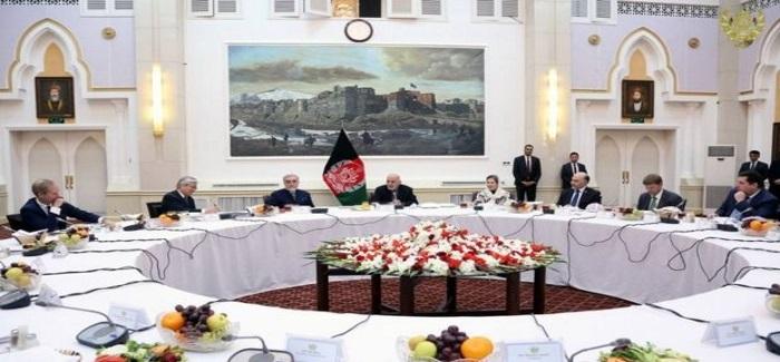 تصویر هیأت شورای امنیت ملل متحد با رهبران کابل