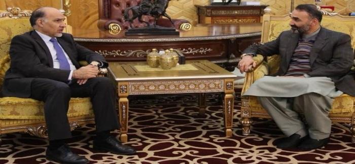 عطا محمد نور با محمود صیقل نمائنده افغانستان در سازمان ملل